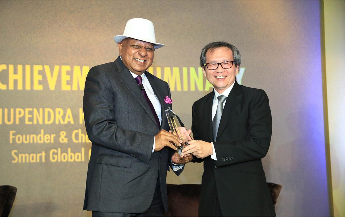 Dr. M receives a Lifetime Achievement award by Channel News Asia Singapore