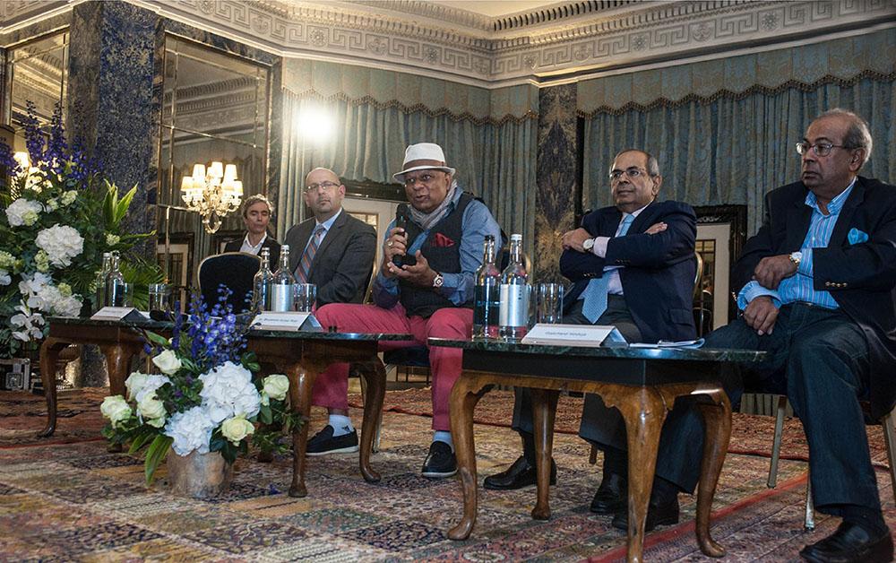 Dr. M with GP Hinduja and Prakash Hinduja of the Hinduja Group