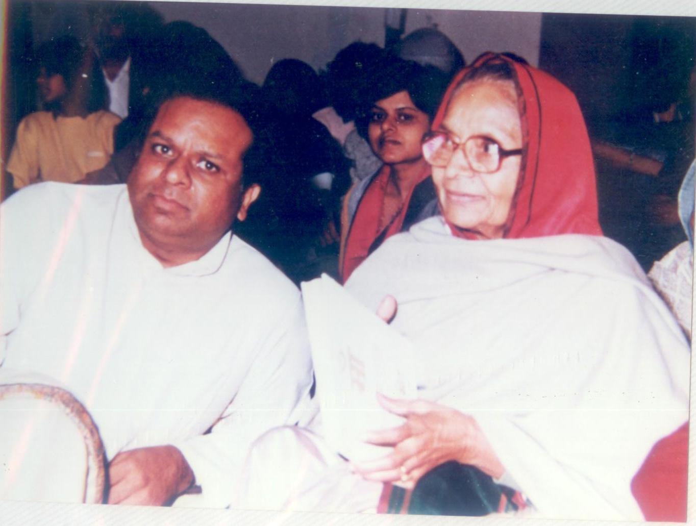 Dr. M with Smt Dayawati Modi