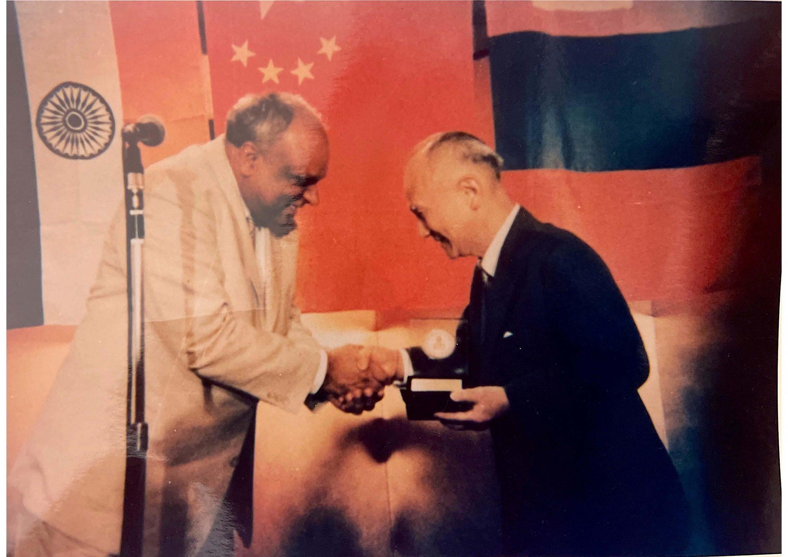 Dr. M felicitates Japan Ambassador to India in New Delhi