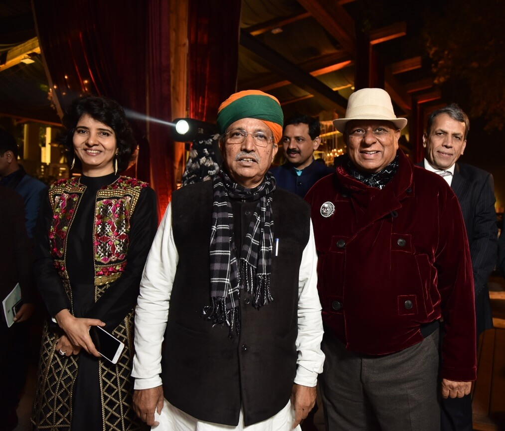 Dr. M with Indian Union Minister Arjun Ram Meghwal and Preeti Malhotra