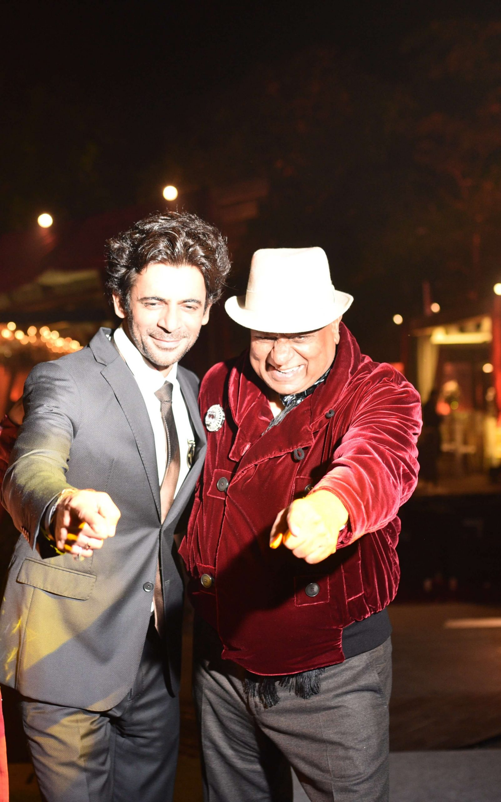 Dr. M with Indian Comic Sunil Grover