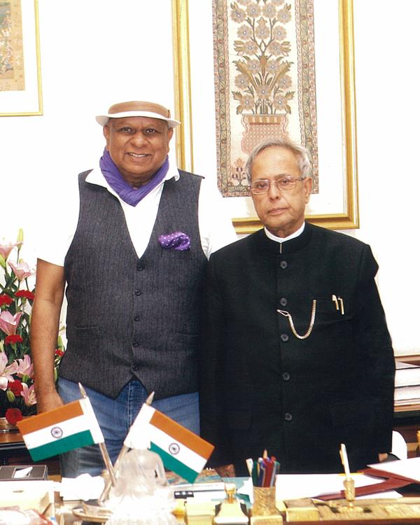 Dr. M with President of India Pranab Mukherjee