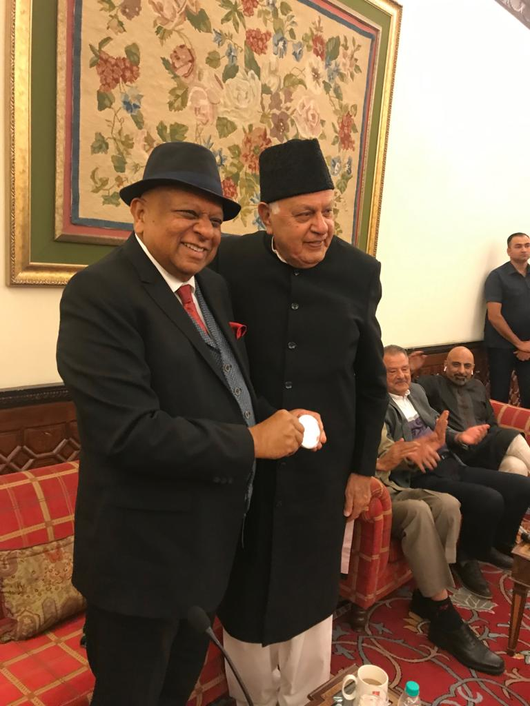 Dr. M with Former Chief Minister of J&K Farooq Abdullah