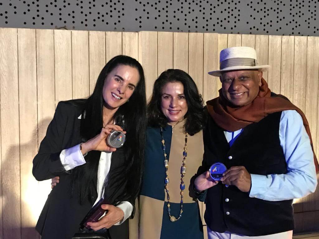 Dr. M with Isha Judd Founder Isha Foundation Mexico