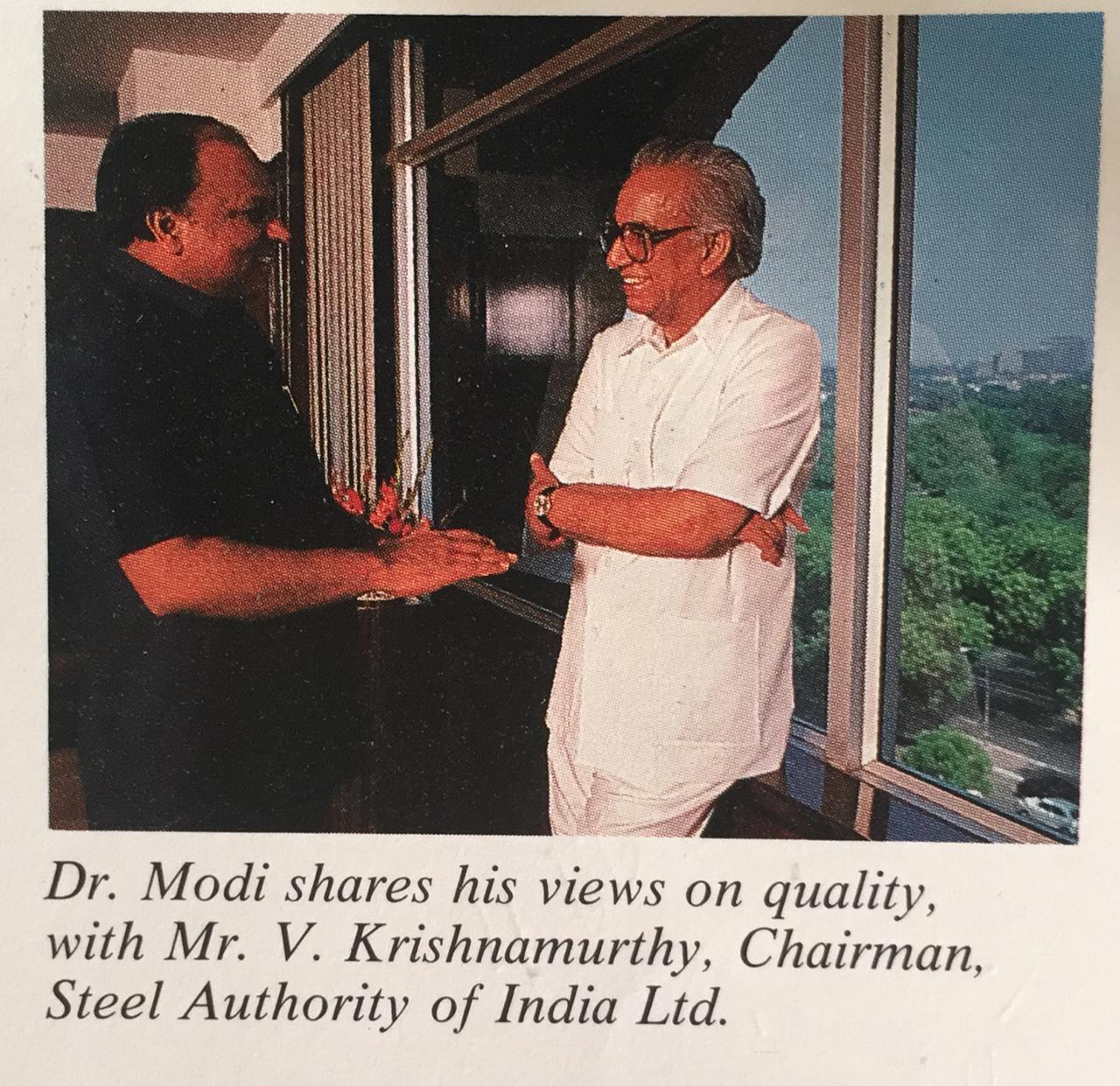 Dr. M with V Krishnamurthy Former Chairman of the Steel Authority of India