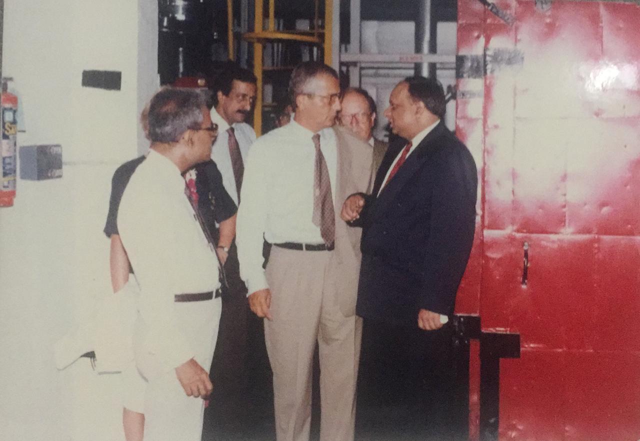 Dr. M with Modi Xerox Employees in Rampur India