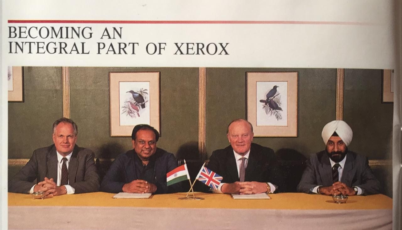Dr. M during India most successful international joint venture with Xerox Corporation USA