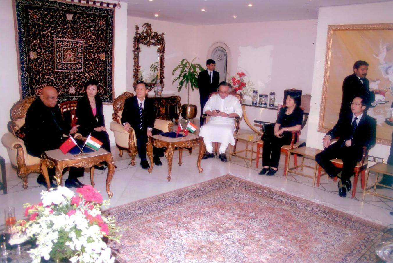 Dr. M with Jairam Ramesh Former Member of Parliament India