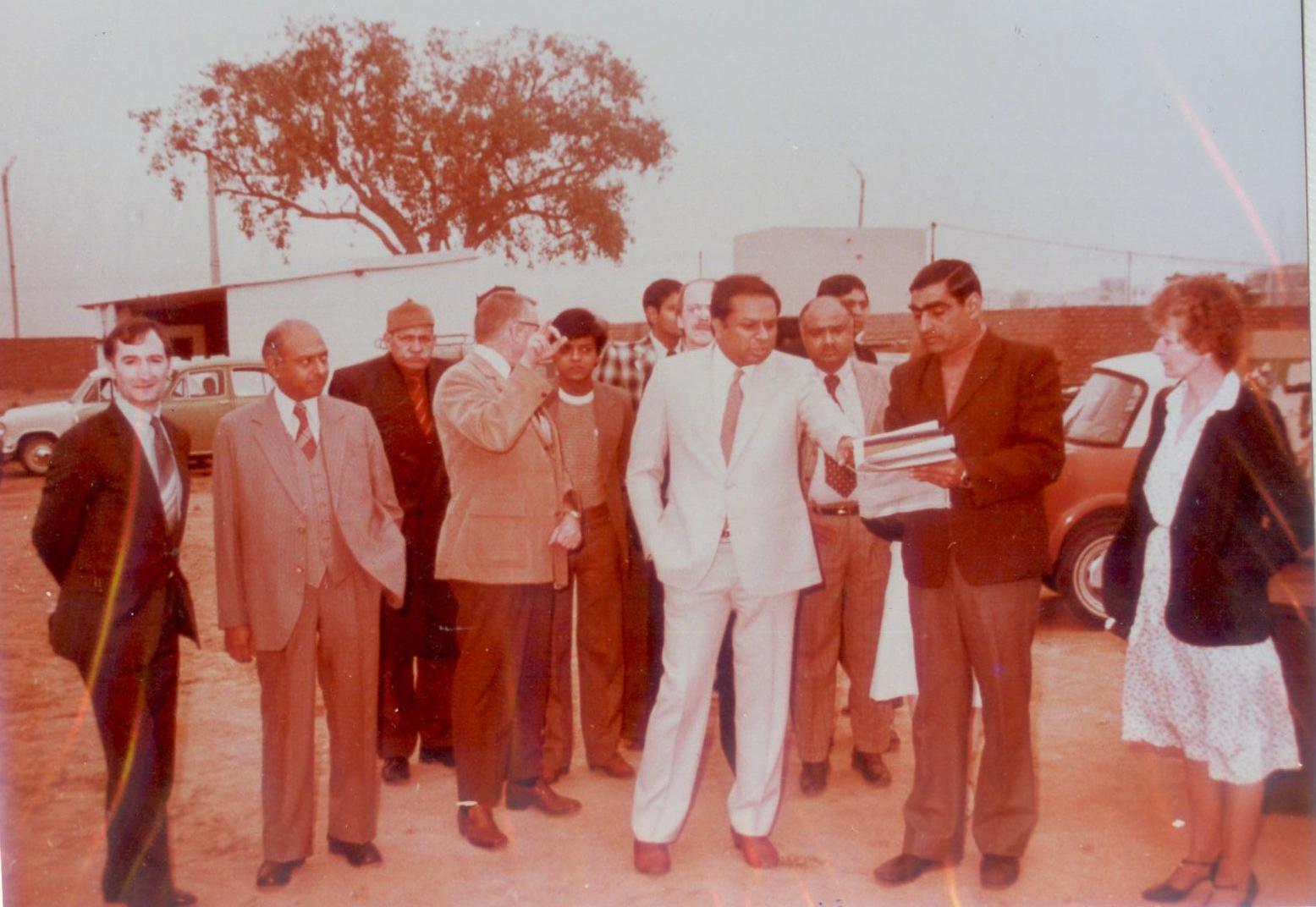 Dr. M at the Modi Alcatel manufacturing plant in Modinagar India
