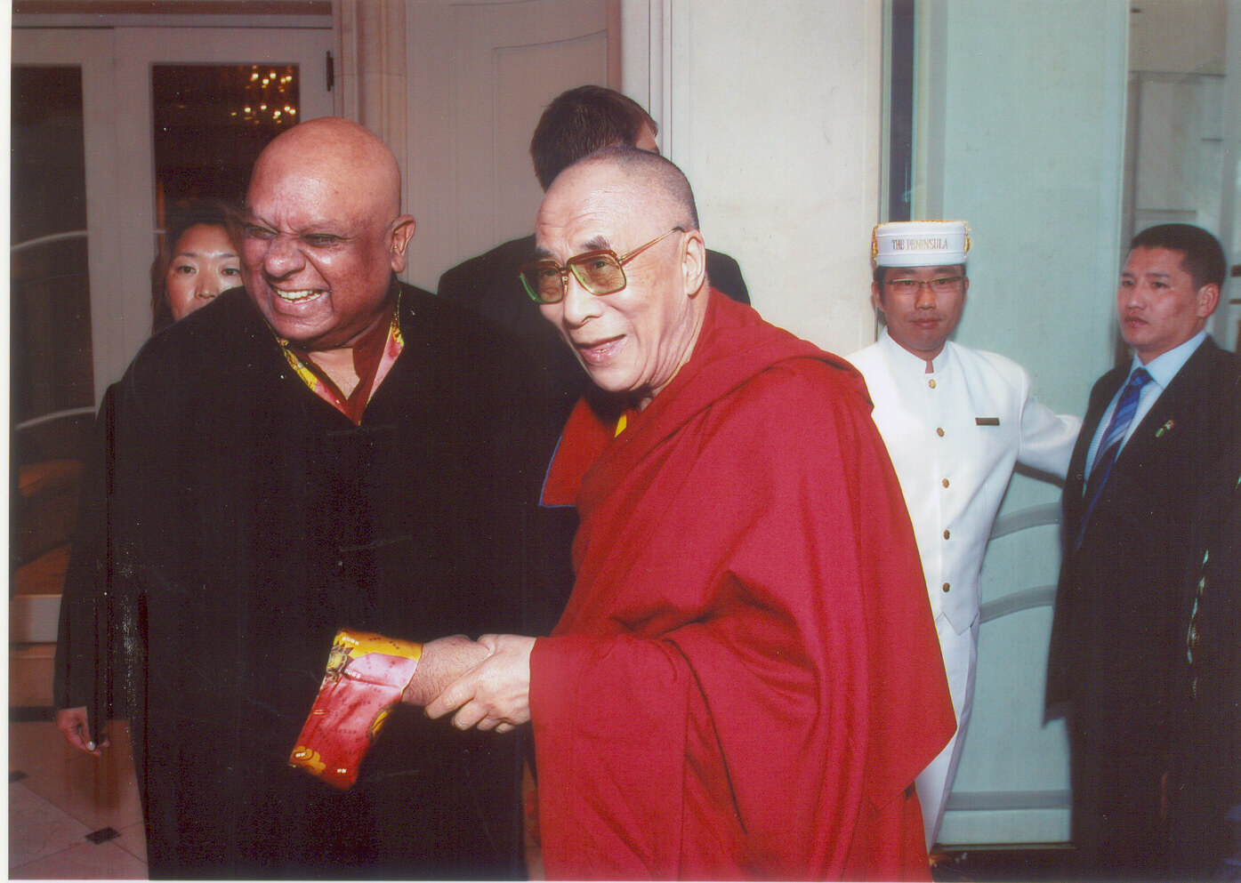 Dr. M with the Dalai Lama at the Asia conference in Kyoto Japan